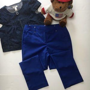 Ann Klein Blue Dress Pants Trousers, straight leg